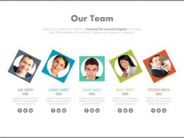Multiple Business Peoples For Team Portfolio Powerpoint Slide