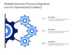 Multiple Business Process Integration Icon For Operational Excellency