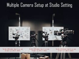 Multiple Camera Setup At Studio Setting