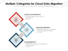 Multiple Categories For Cloud Data Migration