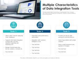 Multiple Characteristics Of Data Integration Tools