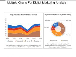 Multiple Charts For Digital Marketing Analysis Presentation Images
