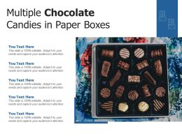 Multiple Chocolate Candies In Paper Boxes