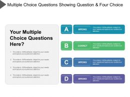 Multiple Choice Question Showing Question And Four Choice