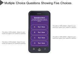 Multiple Choice Questions Showing Five Choices