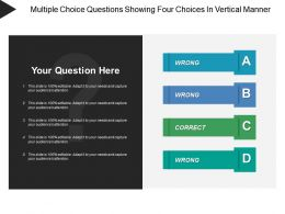 Multiple Choice Questions Showing Four Choices In Vertical Manner