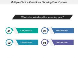 Multiple Choice Questions Showing Four Options