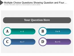 Multiple Choice Questions Showing Question And Four Choice