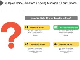 Multiple Choice Questions Showing Question And Four Option
