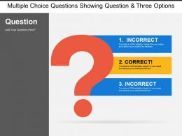 Multiple Choice Questions Showing Question And Three Options