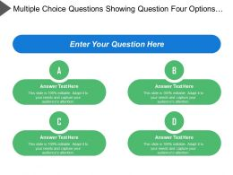 Multiple Choice Questions Showing Question Four Options And Timer