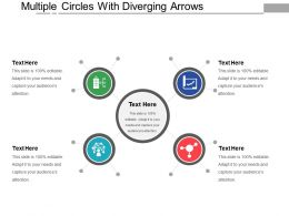Multiple Circles With Diverging Arrows