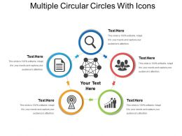 Multiple Circular Circles With Icons