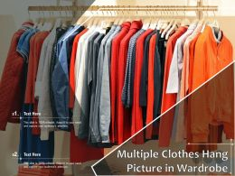 Multiple Clothes Hang Picture In Wardrobe