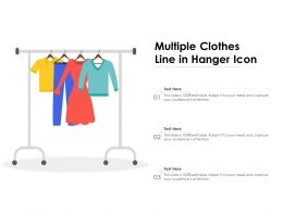 Multiple Clothes Line In Hanger Icon