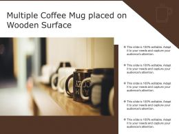 Multiple Coffee Mug Placed On Wooden Surface