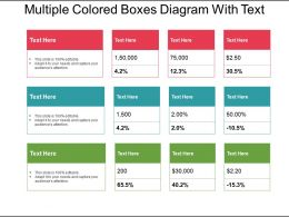 Multiple Colored Boxes Diagram With Text