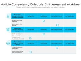 Multiple Competency Categories Skills Assessment Worksheet