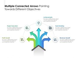 Multiple Connected Arrows Pointing Towards Different Objectives