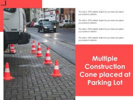 Multiple Construction Cone Placed At Parking Lot