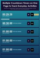 Multiple Countdown Timers On One Page To Track Everyday Activities Report Infographic PPT PDF Document