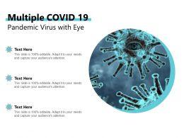 Multiple COVID 19 Pandemic Virus With Eye