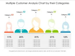 Multiple Customer Analysis Chart By Their Categories