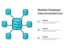 Multiple Database Interconnected Icon
