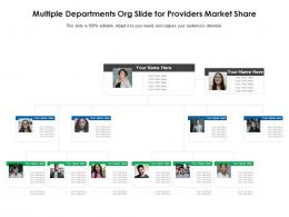 Multiple Departments Org Slide For Providers Market Share Infographic Template