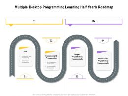 Multiple Desktop Programming Learning Half Yearly Roadmap