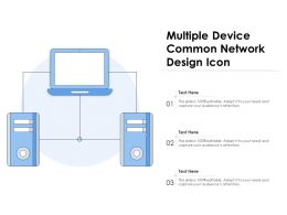 Multiple Device Common Network Design Icon