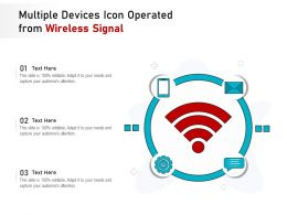 Multiple Devices Icon Operated From Wireless Signal