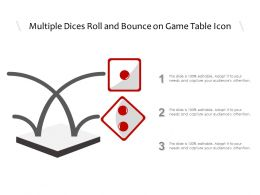 Multiple Dices Roll And Bounce On Game Table Icon