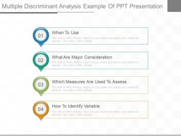 Multiple Discriminant Analysis Example Of Ppt Presentation