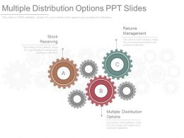 Multiple Distribution Options Ppt Slides