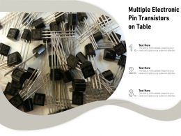 Multiple Electronic Pin Transistors On Table