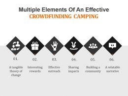 Multiple Elements Of An Effective Crowdfunding Camping Powerpoint Slide Designs