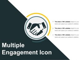 Multiple Engagement Icon Good Ppt Example