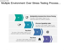 Multiple Environment Over Stress Testing Process Capability Index