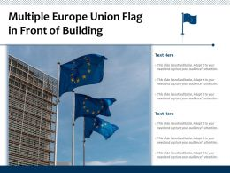 Multiple Europe Union Flag In Front Of Building