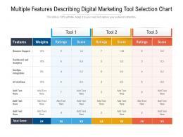 Multiple Features Describing Digital Marketing Tool Selection Chart