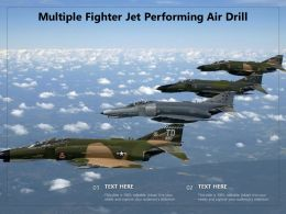 Multiple Fighter Jet Performing Air Drill