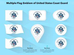 Multiple Flag Emblem Of United States Coast Guard