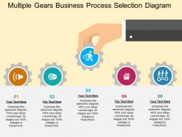 Multiple Gears Business Process Selection Diagram Flat Powerpoint Design