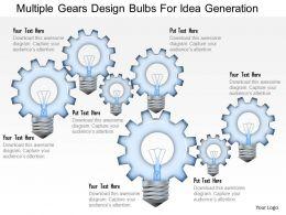 multiple_gears_design_bulbs_for_idea_generation_powerpoint_template_Slide01