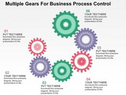 Multiple Gears For Business Process Control Flat Powerpoint Design
