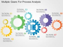 Multiple Gears For Process Analysis Flat Powerpoint Design