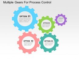 Multiple Gears For Process Control Flat Powerpoint Design