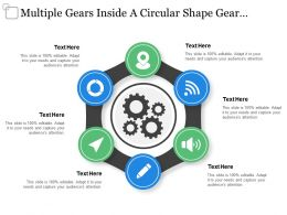 Multiple Gears Inside A Circular Shape Gear Template
