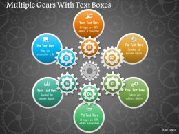Multiple Gears With Text Boxes Powerpoint Template
